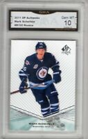 GMA 10 Gem Mint MARK SCHEIFELE 2011/12 UD SP Authentic #R100 ROOKIE JETS!
