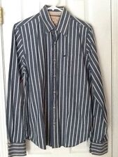 Mens HOLLISTER CALIFORNIA Blue Striped Long Sleeve Button Up Dress Shirt M