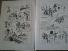 The Refractory Torpedo Ralph Cleaver comic cartoon 1899 prints AO