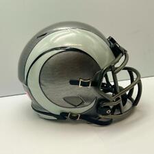 Los Angeles Rams CUSTOM Concept Stainless Steel Hydro-Dipped Mini FB Helmet