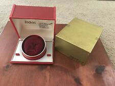 Vintage Rare Men's Zodiac Empty Box SST Astrographic Wrist Watch Red Velvet
