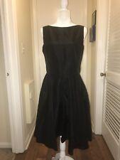 Gunne Sax Jessica McClintock Cocktail Dress-Black-Backless-Size 11-EUC