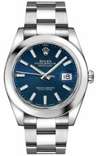 New Rolex Datejust 41 Ref. 126300 Blue Face Men's Watch Discount Sale