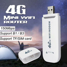 4G LTE Car WIFI Wireless USB Dongle Unlocked Stick Mobile SIM Card Plug Internet