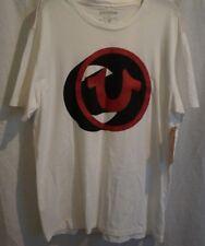 TRUE RELIGION Brand Jeans Men 3D Horseshoe Logo Crew Tee Shirt Top XXL NWT