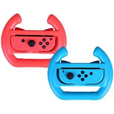 2 x Red + Blue Controller Racing Steering Wheels for Nintendo Switch Joy-Con