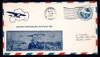 USA 1929 Spirit of St Louis Lindbergh 2nd Anniversary Airmail cover WS11554