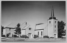 Fremont Nebraska~Steeple Above Belltowe~First Christian Church~RPPC c1950 PC