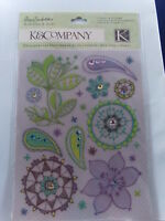 NEW K & CO RUB ONS WITH GEMS POPPYSEED 30-390171 1455