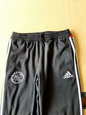 "Ajax Tracksuit Bottoms. 32"" Official Adidas. Black Adults Football Track Pants."