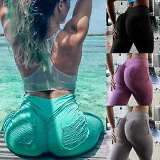 Womens Sport Scrunch Butt Lift Push Up Gym Leggings Yoga Pants Fitness Trousers