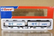 ROCO 44082 SBB CFF SIHL PAPIER SLIDING DOOR VAN WAGON SET MINT BOXED nl