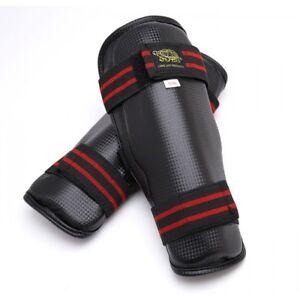 New MMA Shin Guard Karate Shin Protector Taekwondo Leg Guard Sparring Gear-BLACK