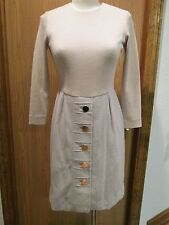 Oscar de la Renta Beige Cashmere Dress Size 6