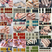 Nail Polish Strips Sticker Gradient Nail Decals Tips Manicure Decor Supply
