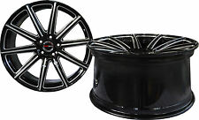 4 GWG WHEELS 20 inch STAGGERED Black Mill MOD Rims fits JAGUAR S-TYPE 2000-2008