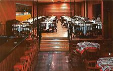 Hackettstown New Jersey~Hotel Clarendon Redwood Room~Dining Tables & Bar~1950s