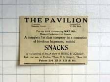 1921 Penzance Pavilion, Managing Director Ellis Slack Snacks Show Music Comedy