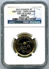 2012 CANADA LOONIE GREY CUP 100TH ANNIVERSARY NGC MS67 FIRST RELEASES