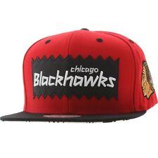 BAIT x NHL x Mitchell And Ness Chicago Blackhawks STA3 Wool Snapback Cap red bla