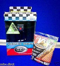 R & G HEATED GRIPS SUZUKI GSXR750 SRAD 22mm HANDLEBARS DIAMETER & FREE V SPONGE