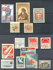 DENMARK 14 STAMPS -POSTER STAMP / LOCAL --MOST VF