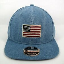 New Era Men's USA Seasonal Flag Denim Blue Crown 950 Snapback Cap - Size M/L