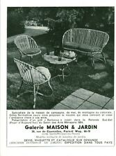 Publicité ancienne salon de jardin maison & jardin advertising 1954