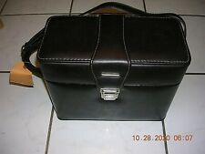 Vintage Brown Leather Camera Bag with Strap And Insert