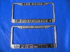 NOS 1980's Los Gatos Ferrari Dealer License Plate Frames (2) Mint