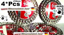 4°Pcs Crazy-021 Glitzer Auto Metall Naben Deckel Aufkleber >Einzelstücke by Amor