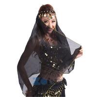 Indian Belly Dance Face Veil Chiffon Dancing Head Scarf Shawl Headband Headpiece