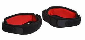 2 Pack Tennis Elbow Brace Black & Red Tennis & Golfer's Elbow Pain Relief