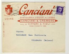 14354- Udine, Canciani, Distilleria Liquori di Lusso per Villabassa,1940 circa