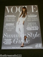 VOGUE UK SUPPLEMENT SUMMER STYLE GUIDE 2011 with H&M
