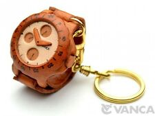 Watch Handmade 3D Leather (L) Keychain/Keyring *VANCA* Made in Japan #56196