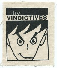 THE VINDICTIVES face logo CLOTH PATCH -sew on **FREE SHIPPING** -punk many moods