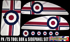 Tool Box & Side Panel Sticker Set Fits Vespa PX T5 - Mod Target Decal