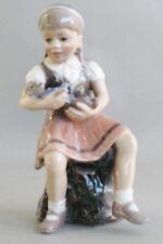"Dahl Jensen Royal Copenhagen 6.5"" Figurine of Girl Reading #1295 Mint Condition"