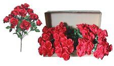 "New listing Lot of 144 Light Red Poly Silk Open Roses 20"" Bush Wedding Home Decor Flower"