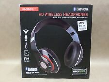 HD Wireless Headphones with Built In Hands Free Microphone Soundlogic Black New