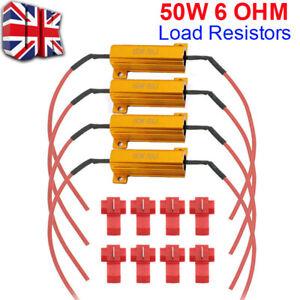 4x 50w 6 ohm Load Resistor LED Canbus Indicator Signal Hyper Flashing Flickering