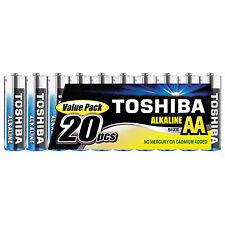 Toshiba 20 Pack of AA Alkaline Batteries