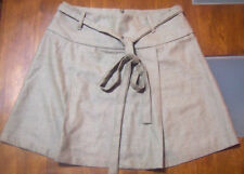 Christopher Ari Womens Skirt Size 12 100% Wool Ladies Light Brown