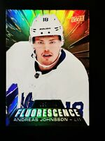 Andreas Johnsson - 2018-19 Upper Deck Fluorescence RC /150 - Toronto Maple Leafs