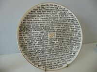 Grayson Perry '100% Art' Plate Pottery Includes The Artists Stamp on Reverse