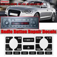 Reparación para Audi A4 B6 B7 A6 A2 A3 8L/P Radio Button CD Player Sticker Set T