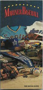1986 SEATTLE MARINERS MLB MEDIA GUIDE VINTAGE