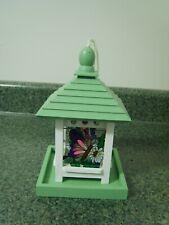 Stained Glass Butterfly Gazebo Wood Birdfeeder New