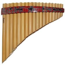 South American Style 18 Pipes (Peruvian Motifs) Pan Flute - G major